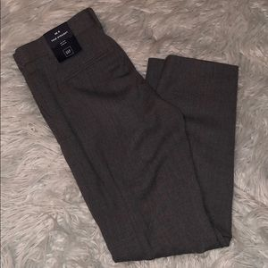 New Gap true straight mid rise gray pants